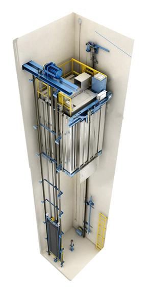 نمونه یک آسانسور بدون موتورخانه