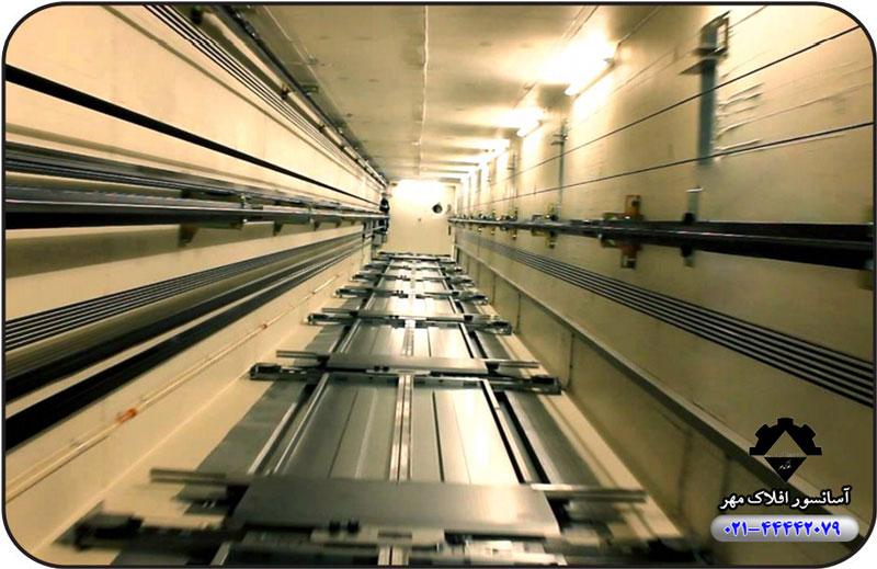 نصب چاهک آسانسور