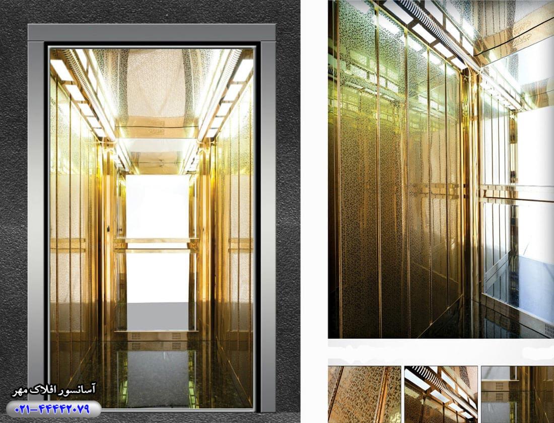 کابین آسانسور مدل GOLDEN