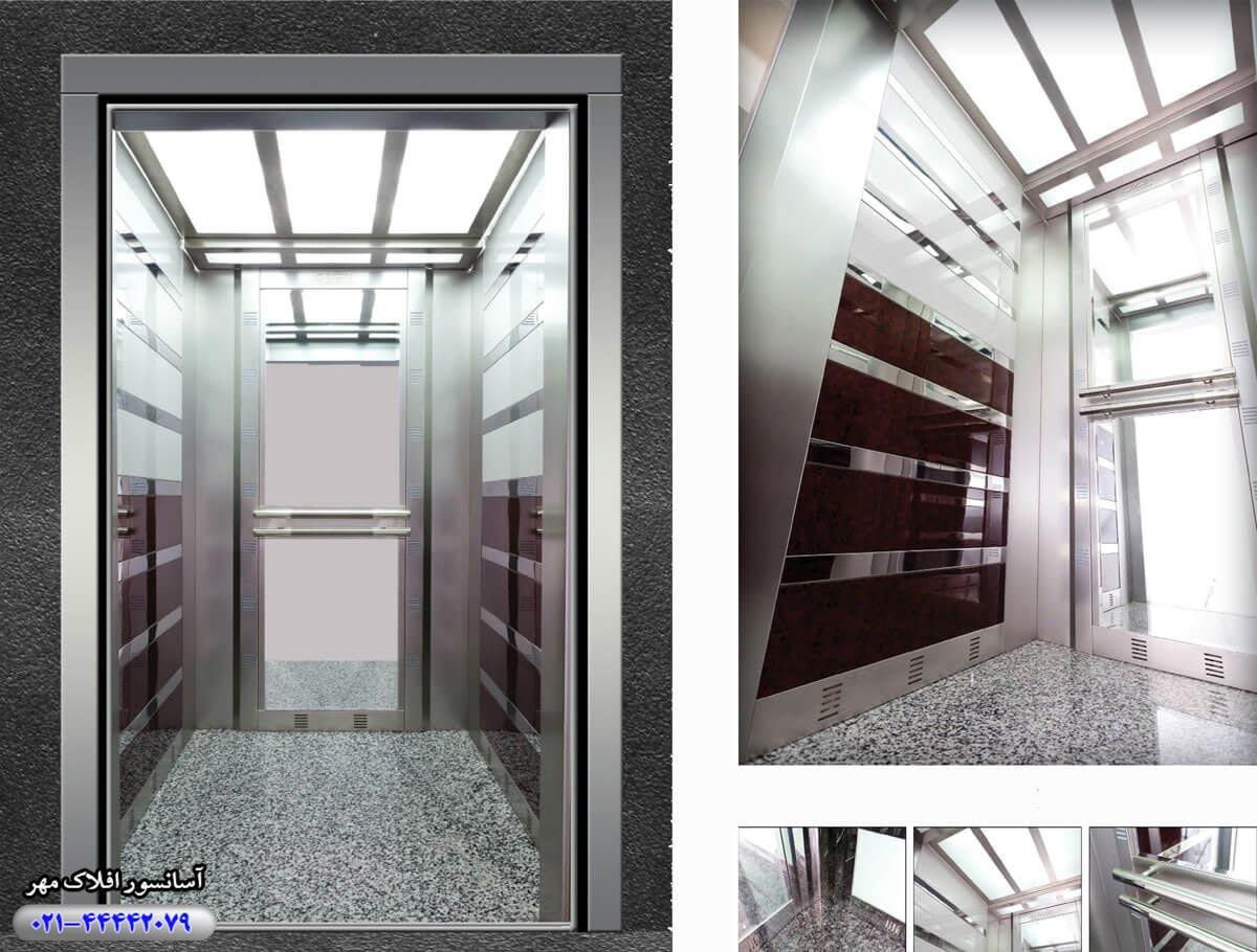 کابین آسانسور مدل MILANOCLASS