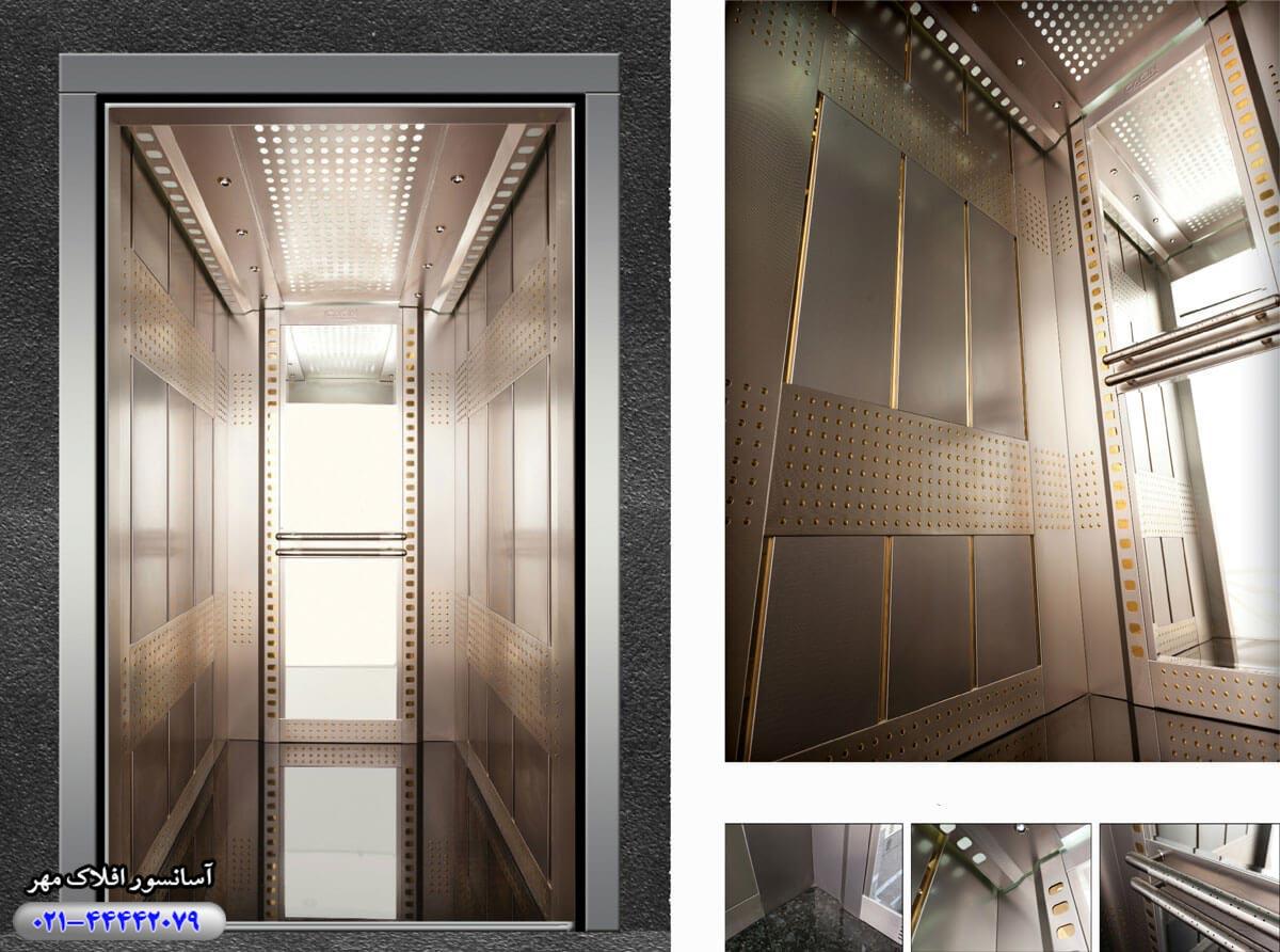 کابین آسانسور مدل MONDEO