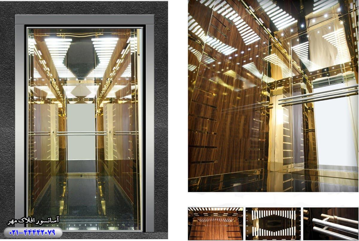 کابین آسانسور مدل QUADRO