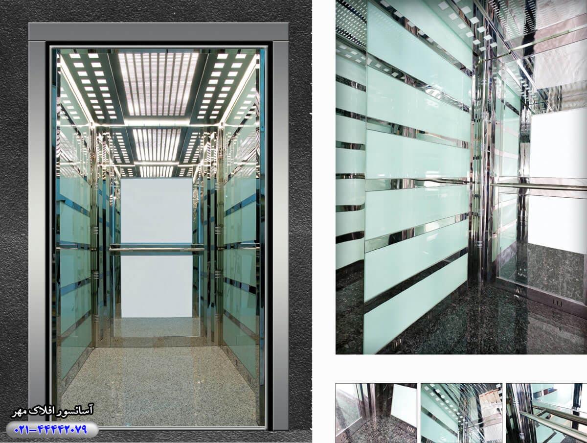کابین آسانسور مدل SOLIDCRYSTAL