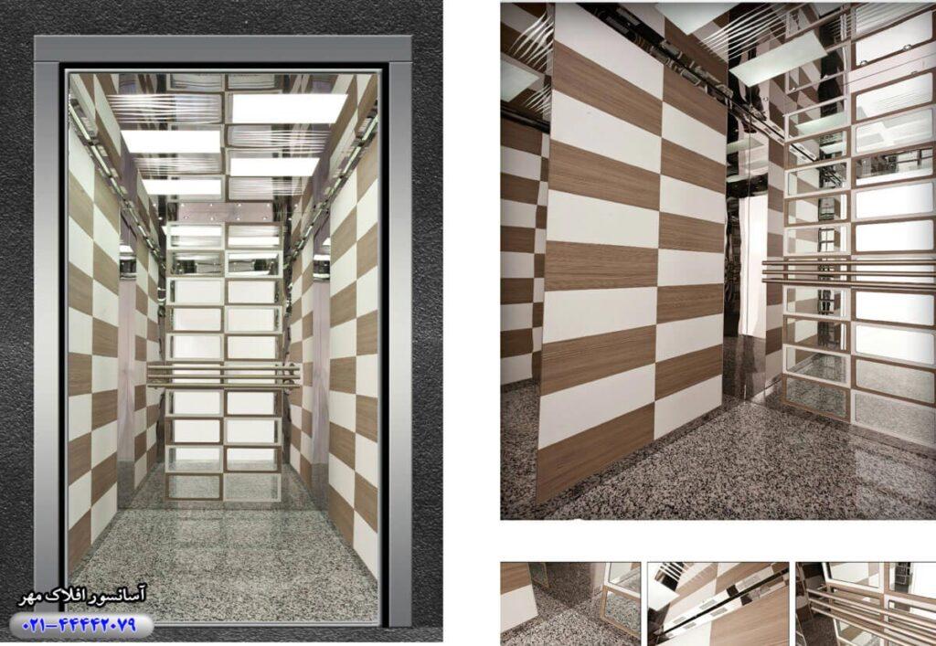کابین آسانسور مدل BLACK-&-WHITE