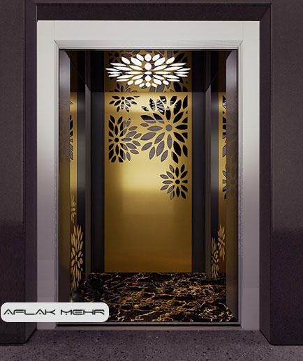 کابین آسانسور مدل CRYSTAL