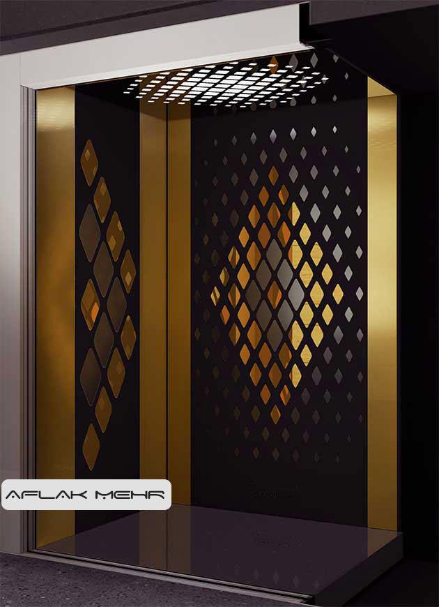 کابین آسانسور مدل solid-3